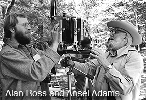 Alan Ross with Ansel Adams