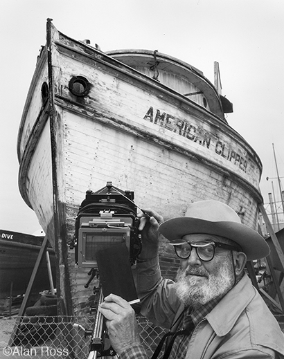 """Ansel Adams and the American Clipper"" fine print by Alan Ross, at Sun to Moon Gallery"
