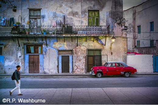 Fine photographic print of Cuba by R.P. Washburne, at Sun to Moon Gallery, Dallas, TX