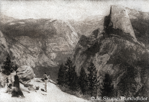 Yosemite Bromoil print by Jill Skupin Burkholder, at Sun to Moon Gallery, Dallas, TX