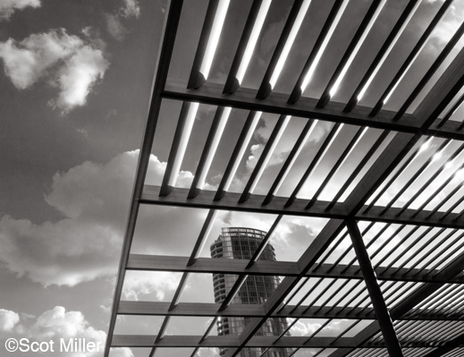 Fine photographic print by Scot Miller of Dallas Arts District urban architecture, at Sun to Moon Gallery, Dallas, TX